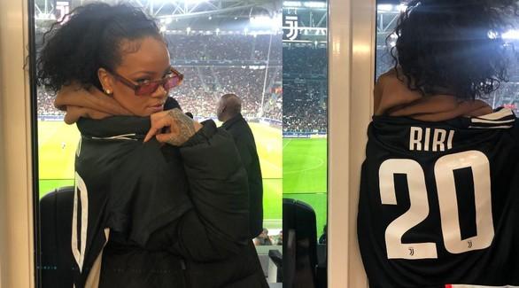 Рианна на футбольном матче в Италии