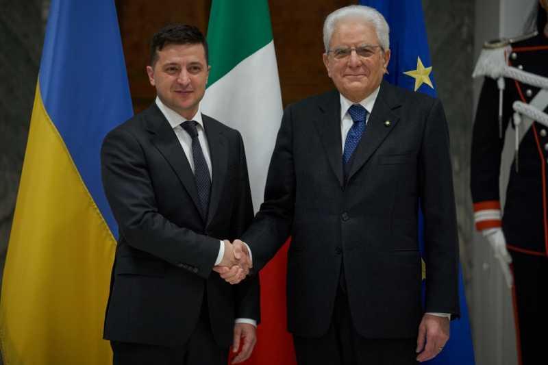 Для Украины важно развитие отношений с Италией как влиятельным членом ЕС и НАТО – Владимир Зеленский в ходе встречи с Президентом Итальянской Республики