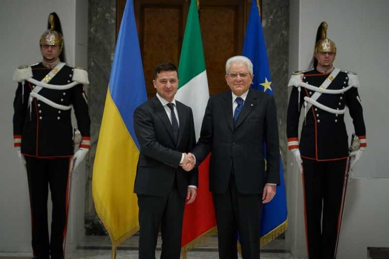 Началась встреча Президента Украины с Президентом Италии
