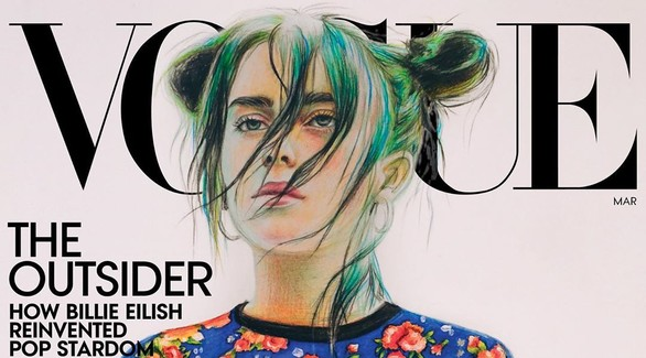 Русская художница нарисовала Билли Айлиш для обложки Vogue