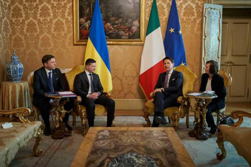 Владимир Зеленский встретился с Премьер-министром Италии