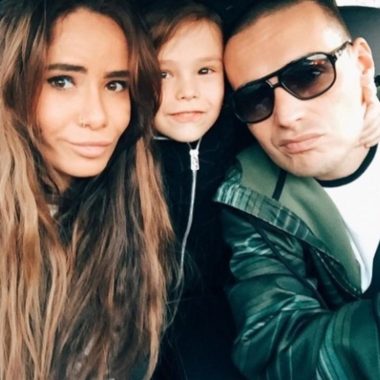 Айза Анохина, Гуф и их сын