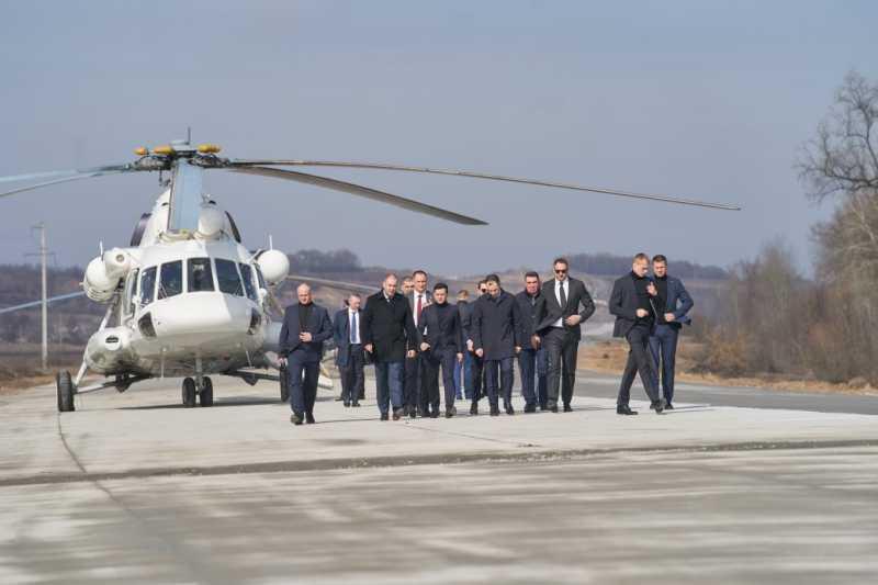 Глава государства начал рабочую поездку в Полтавскую область