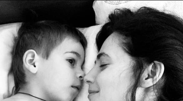Юлия Снигирь впервые за долгое время показала сына
