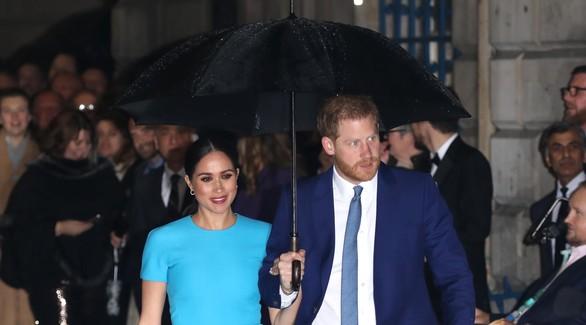 Меган Маркл и принц Гарри впервые вышли в свет после «Мегзита»