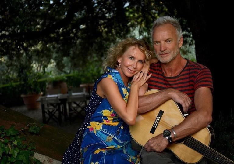 Стинг с женой Фрэнсис Томелти