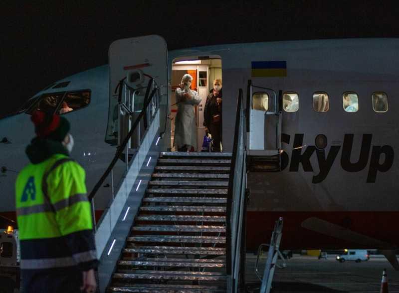 В Киев прибыл борт с украинцами, эвакуированными из Италии