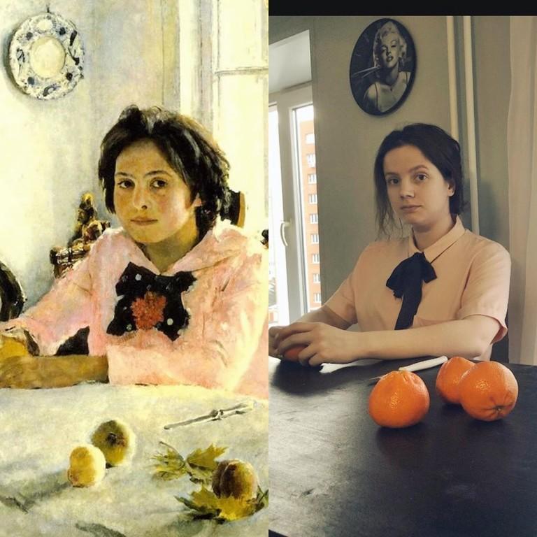 Флешмоб #изоизоляция: известные картины из подручных средств9