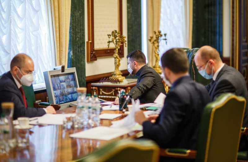 Президент Украины провел селекторное совещание с руководителями ОГА и городскими головами