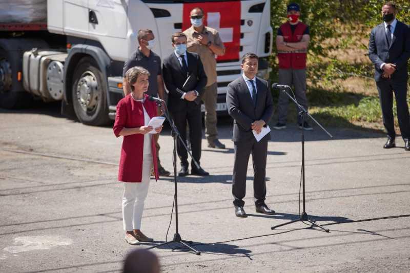 Президенты Украины и Швейцарии посетили КП «Вода Донбасса»