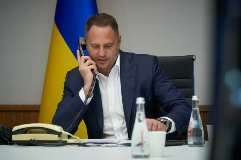 Руководитель Офиса Президента Украины обсудил с белорусским коллегой углубление двустороннего сотрудничества