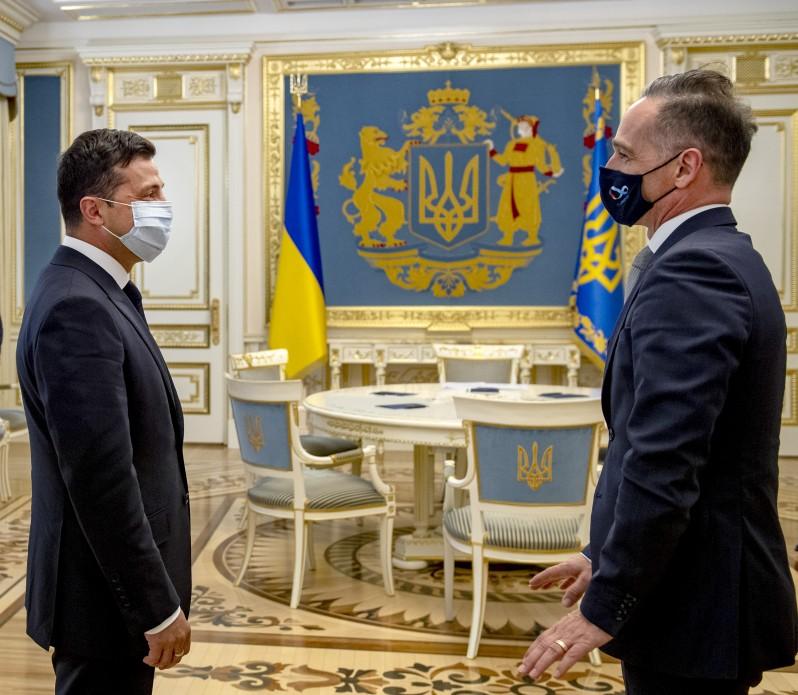 Президент Украины встретился с министром иностранных дел Германии