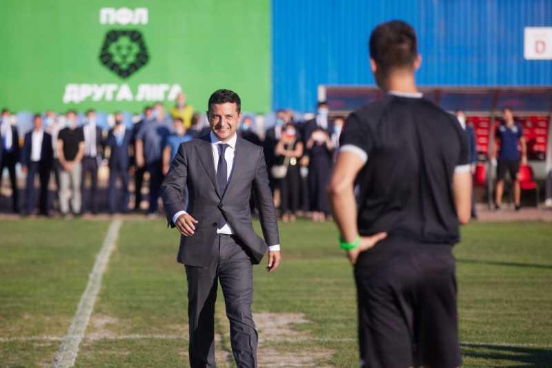 Владимир Зеленский открыл первый матч с участием возрожденного футбольного клуба «Кривбасс»