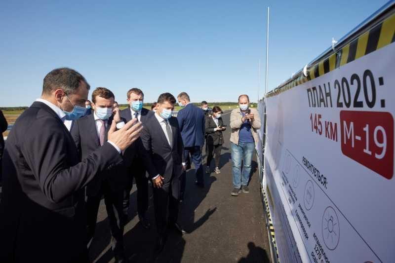 «Большое строительство»: Президент ознакомился с ремонтом дороги М-19 на Тернопольщине
