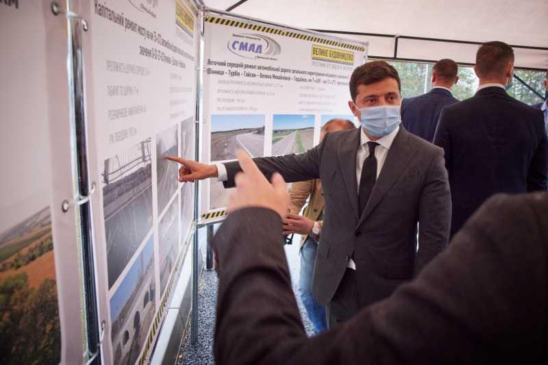 Глава государства осмотрел объекты «Большого строительства» на Виннитчине