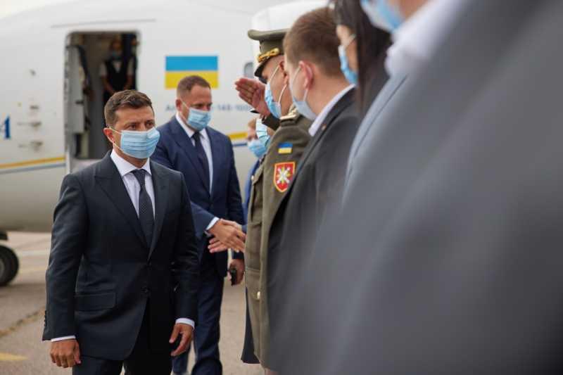 Президент прибыл с рабочей поездкой на Сумщину