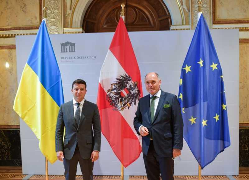 Президент Украины встретился с Президентом парламента Австрии