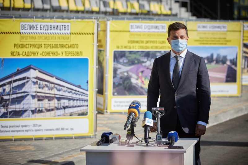 Владимир Зеленский проинспектировал «Большое строительство» на Тернопольщине