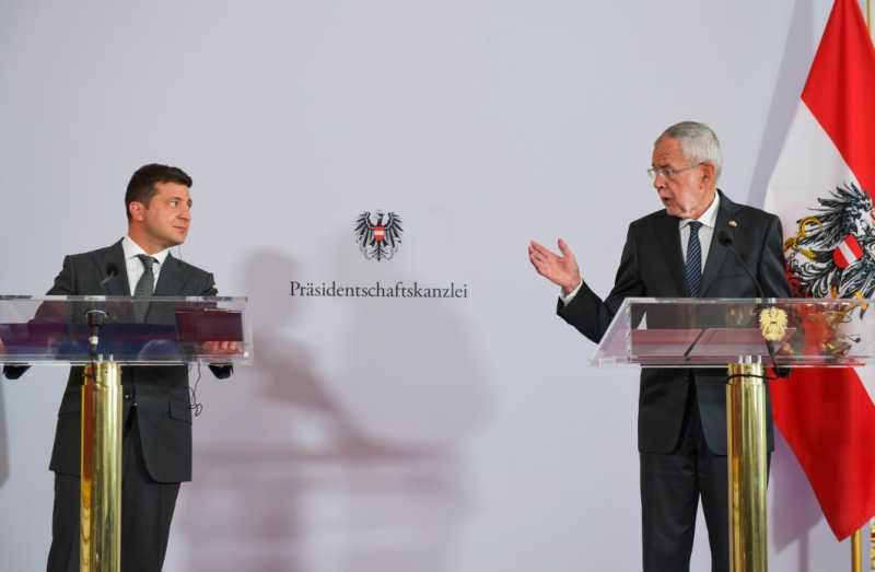 Владимир Зеленский: Сегодня я услышал о полной поддержке наших позиций со стороны Австрии