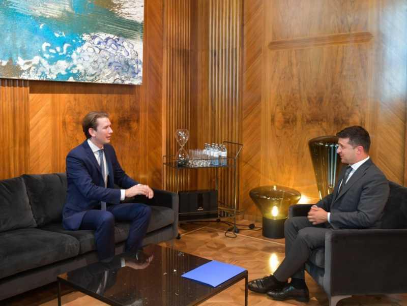 Владимир Зеленский встретился с Федеральным канцлером Республики Австрия