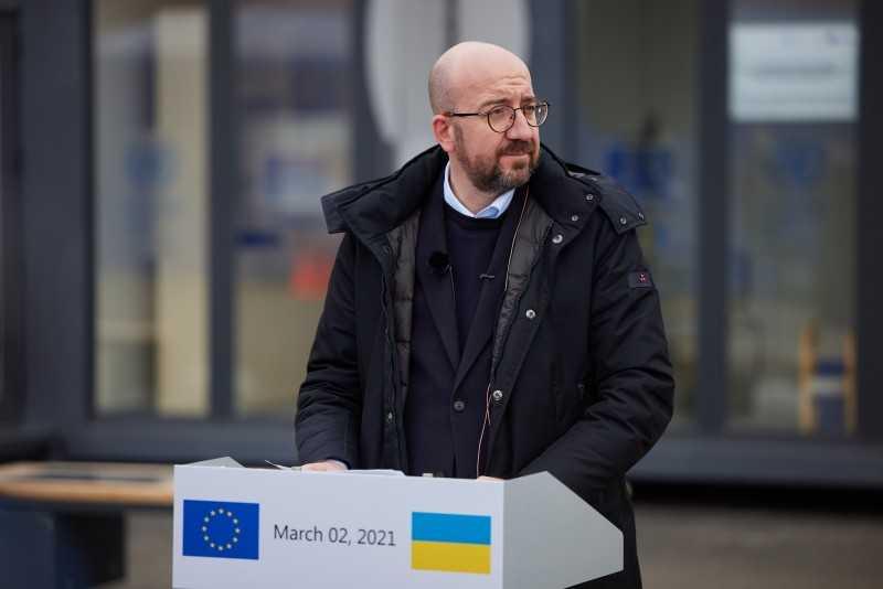 Президент: Присутствие на линии разграничения лидера ЕС демонстрирует, что Украина не остается наедине в стремлении к миру